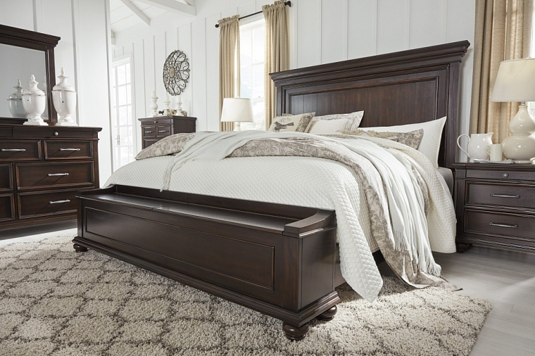 Кровать King Panel Bed Storage  (спальное место 1,95*2.05m)